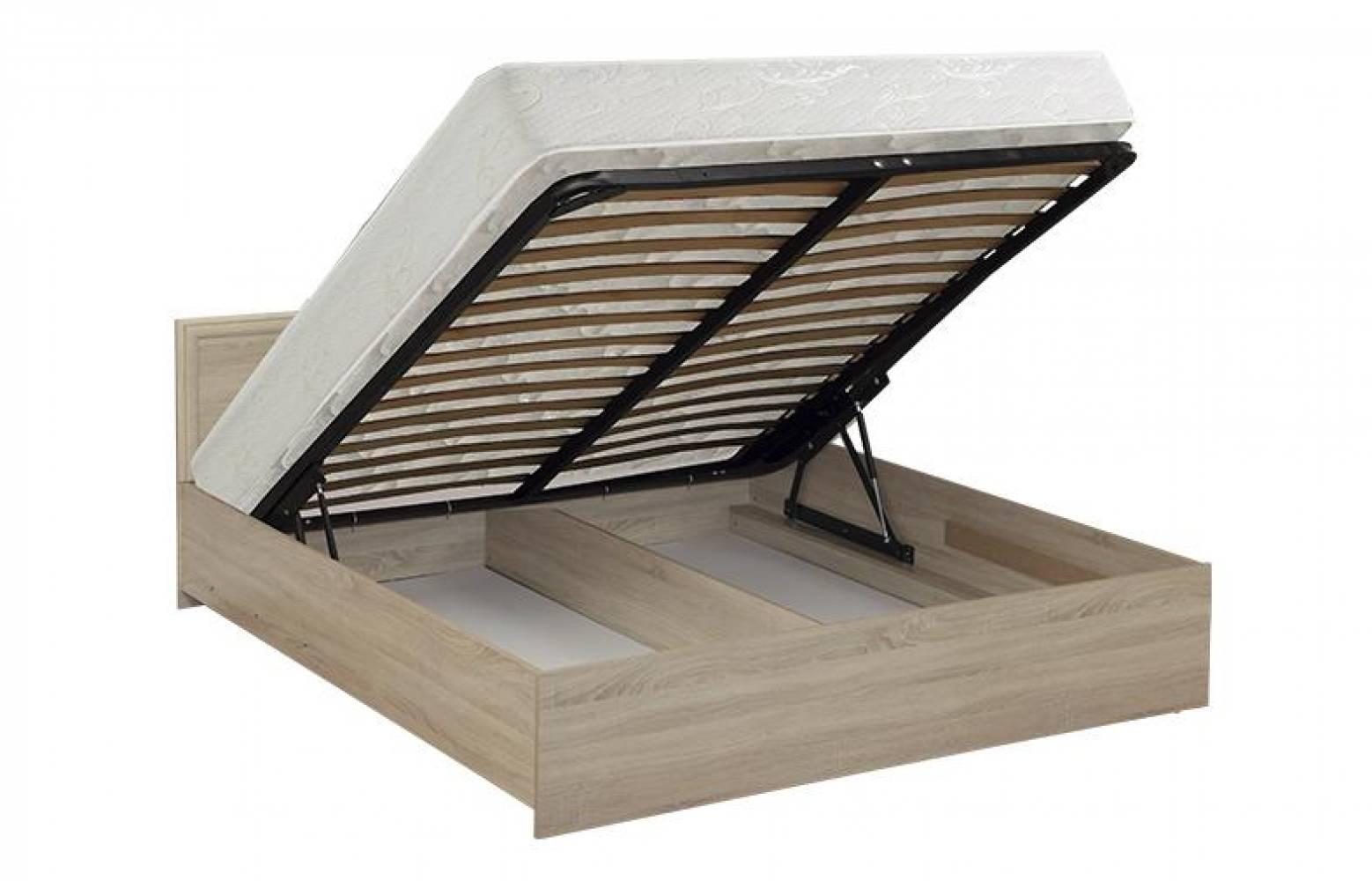 Кровать 1600 с откидным механизмом 21.53 (Дуб Сонома) Олмеко