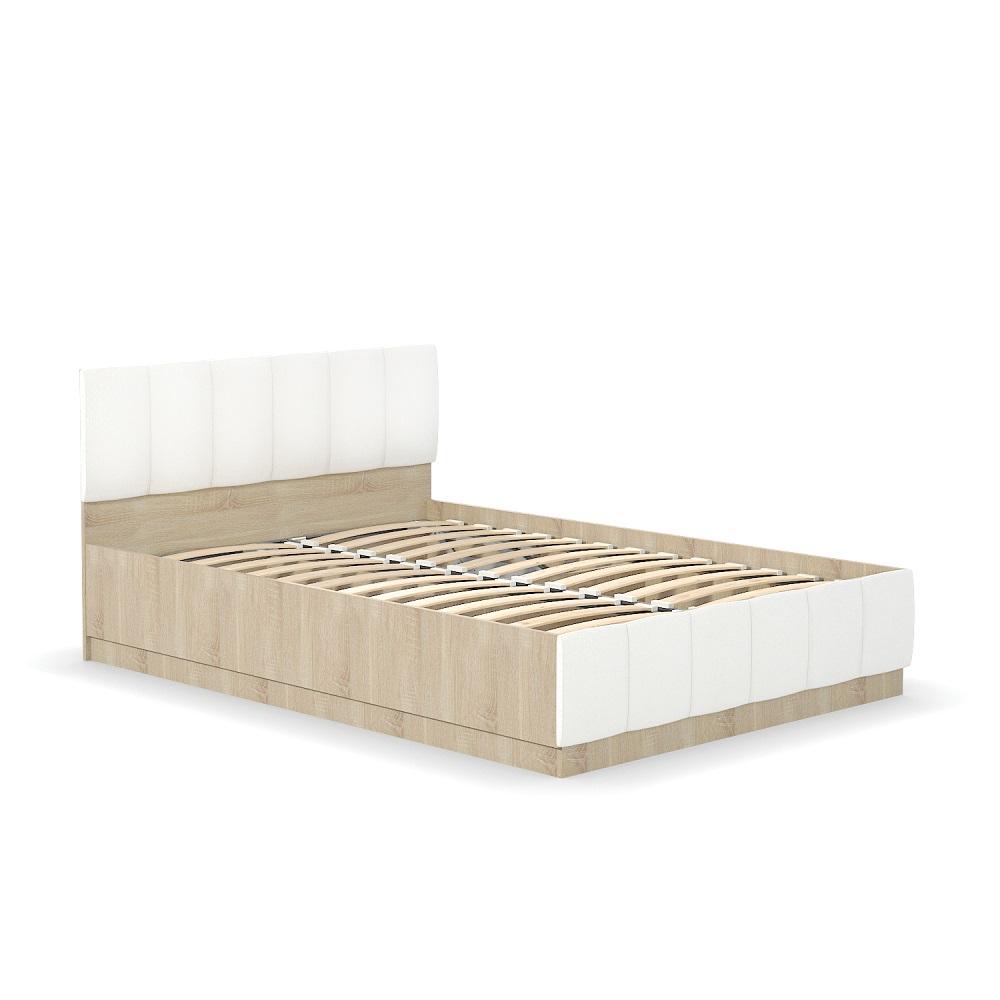 Кровать двойная 303 140 ЛИНДА (Дуб Сонома/Белый)