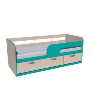 Кровать 800 НМ 039.05 РИКО (Аква)