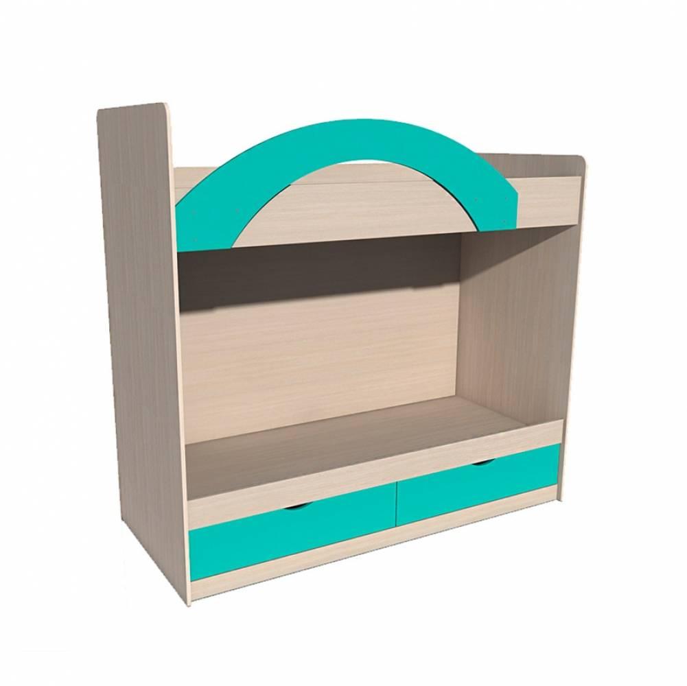 Кровать двухъярусная ИЧП 15-02 РИКО (Аква)