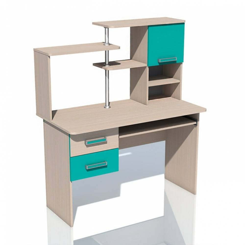 Компьютерный стол НМ 011.77 РИКО (Аква)