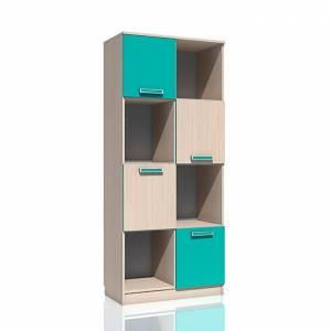Шкаф для книг НМ 009.06 РИКО (Аква)