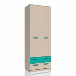 Шкаф для одежды с ящиками НМ 013.02-03 РИКО (Аква)