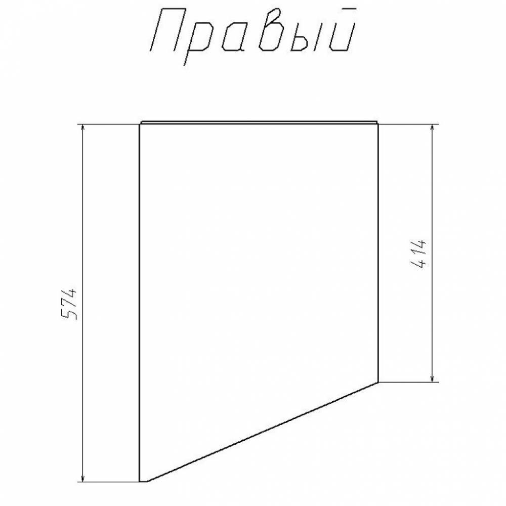Шкаф-пенал, скошенный правый НМ 013.05-01 РИКО (Аква)