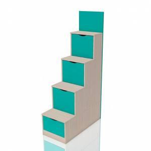 Лестница с ящиками НМ 011.64 РИКО (Аква)