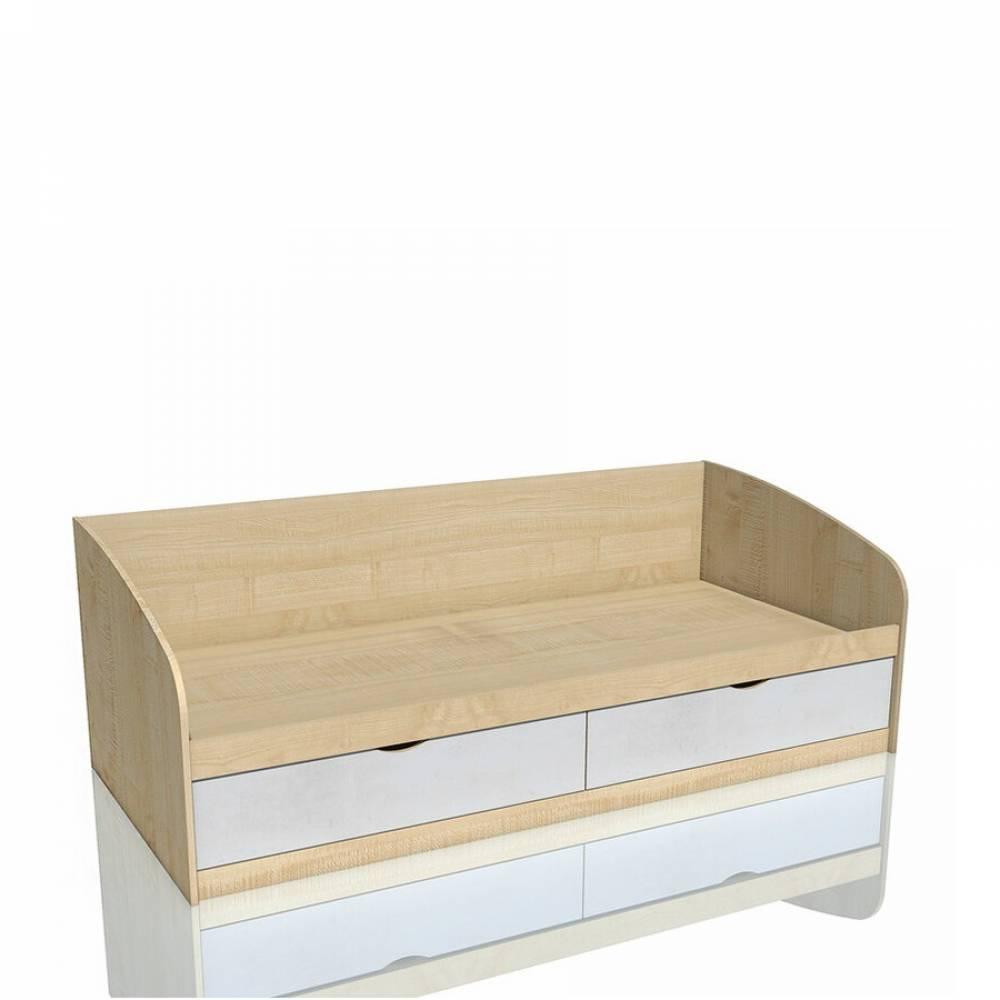 Кровать 900 НМ 008.63 ФАНК (Дуб Сонома/Белый)