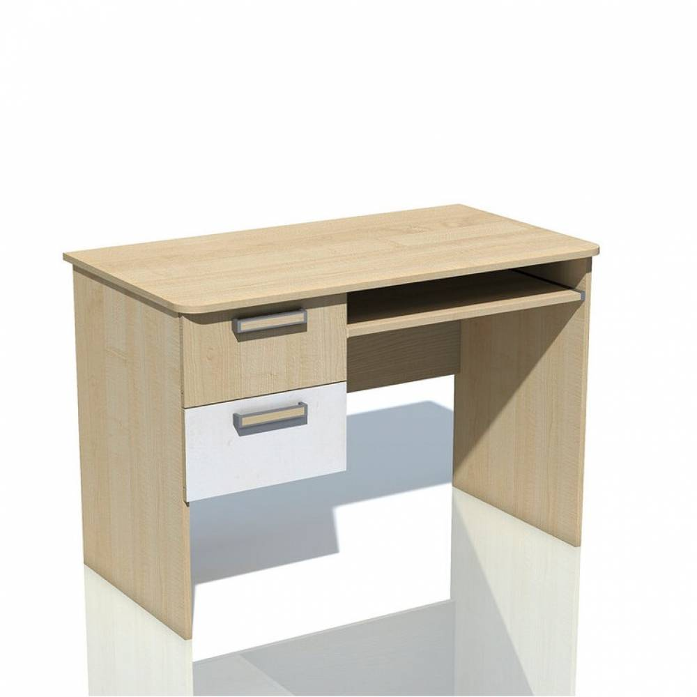 Компьютерный стол НМ 009.19-05 ФАНК (Дуб Сонома/Белый)