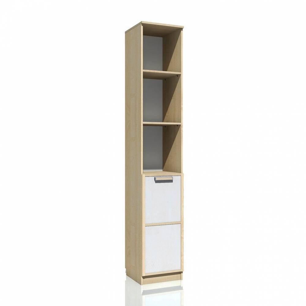 Шкаф для книг НМ 013.03-01 ФАНК (Дуб Сонома/Белый)