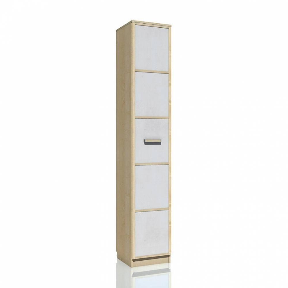 Шкаф для белья НМ 013.01-02 ФАНК (Дуб Сонома/Белый)
