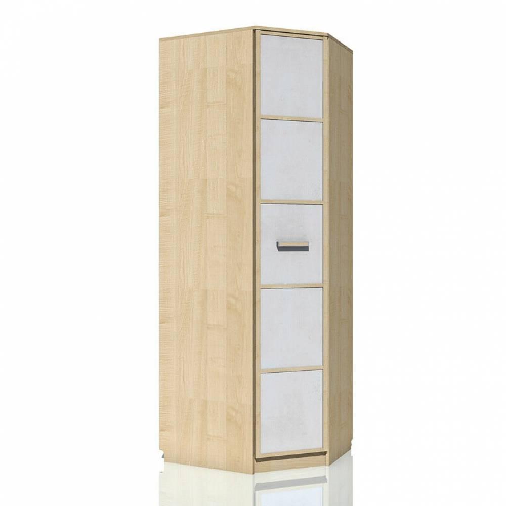 Шкаф угловой правый НМ 013.04-02 ФАНК (Дуб Сонома/Белый)