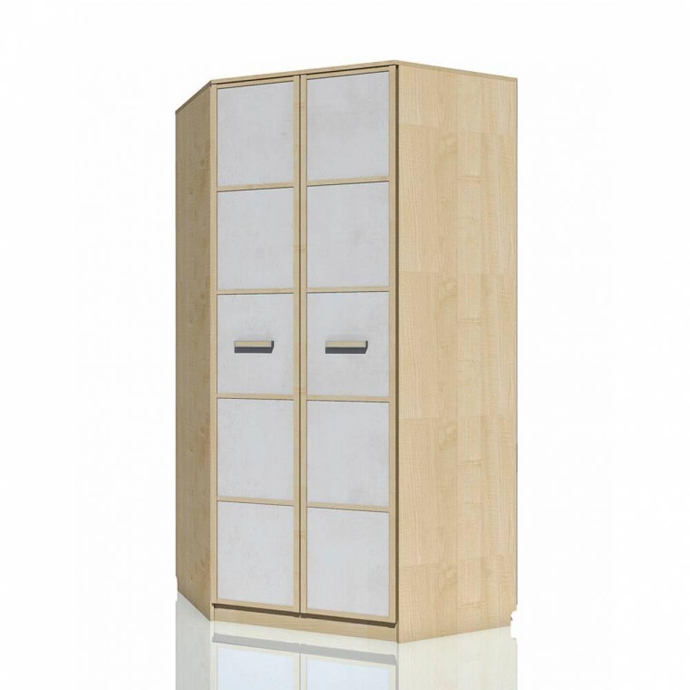 Шкаф угловой НМ 013.04-04 ФАНК (Дуб Сонома/Белый)