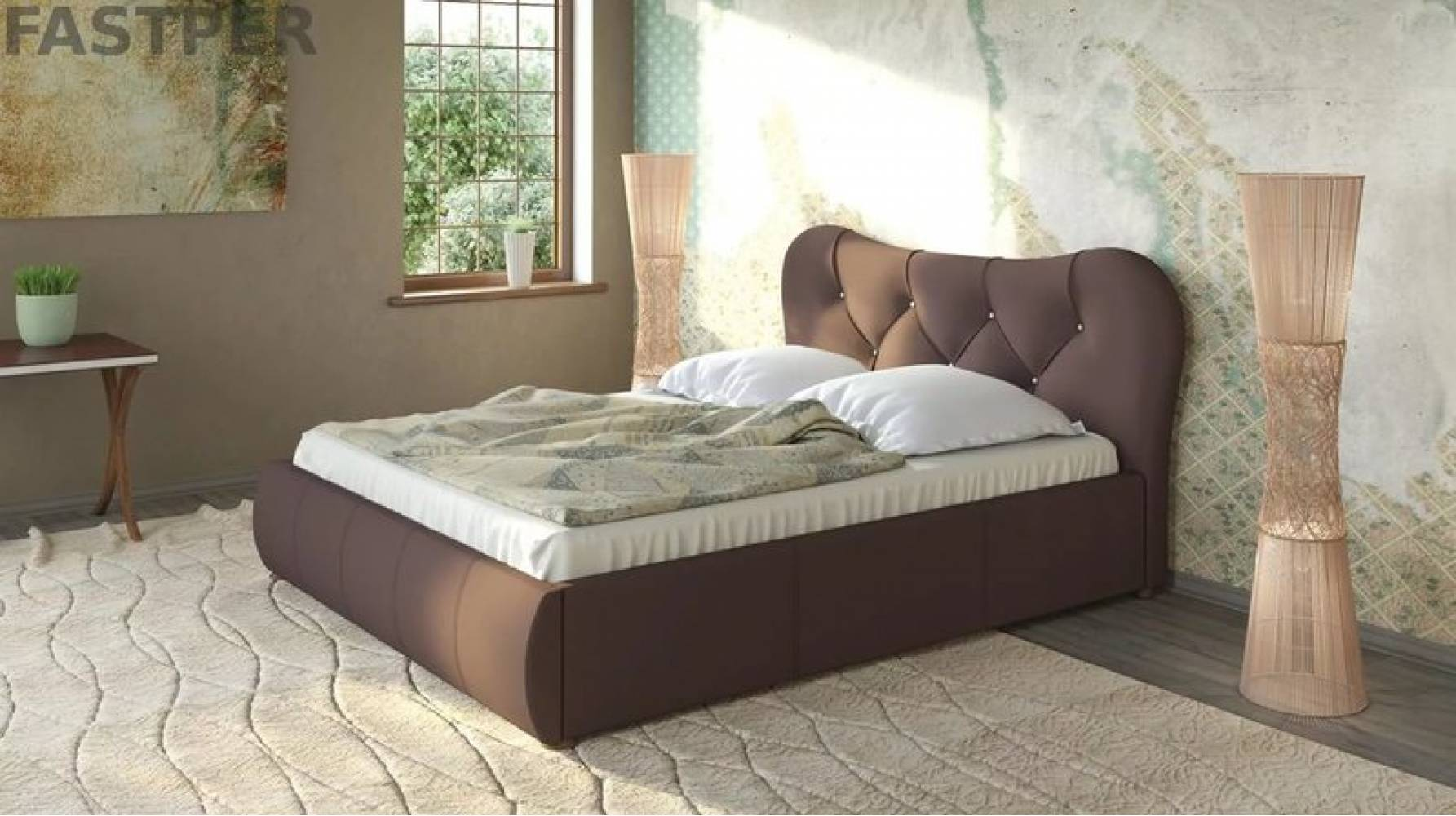 Каркас кровати 1600 ЛАВИТА (Гранд Шоколад)