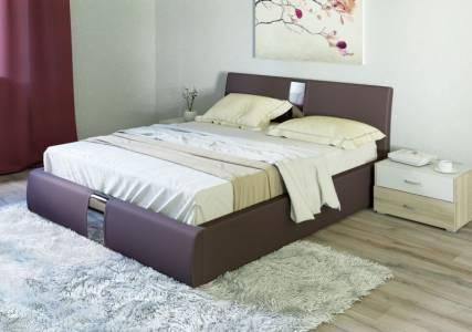 Каркас кровати 1600 ЧЕЛСИ (Гранд Шоколад)