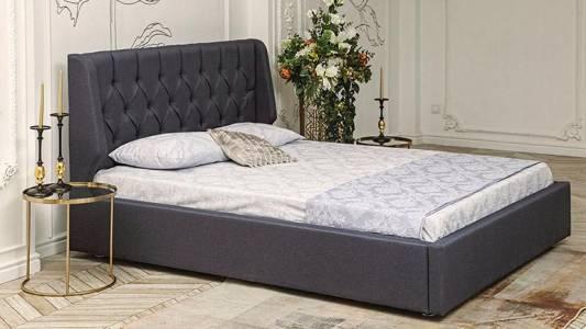 Кровать 1600 ДИОНИС с подъемным механизмом (ягуар блю)