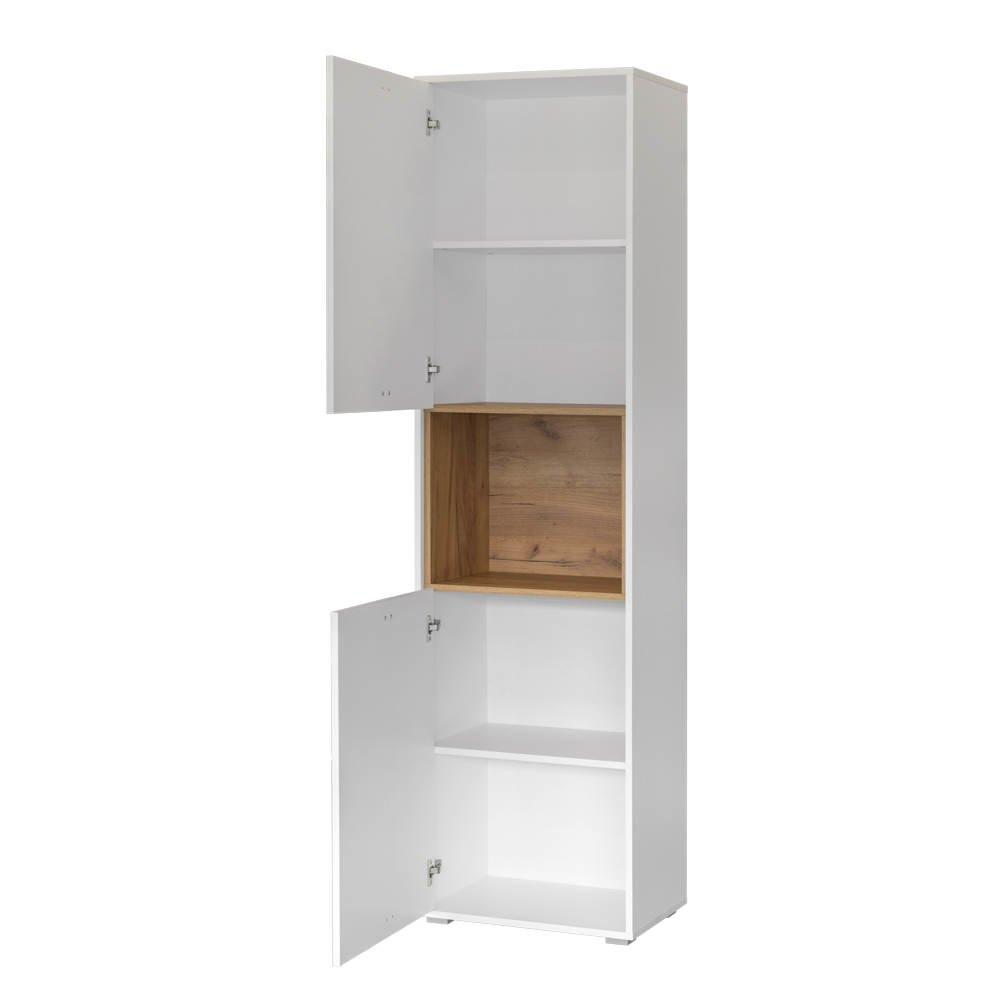 Шкаф комбинированный 10.04 БЭЛЬ (Дуб Крафт золотой/Белый премиум)