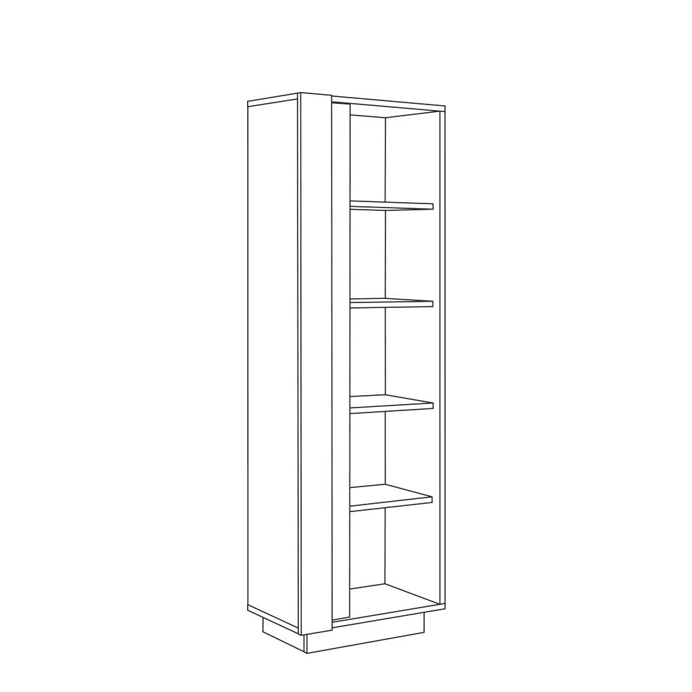 Шкаф комбинированный 10.05 АРЧИ (Дуб Крафт золотой/Камень темный)