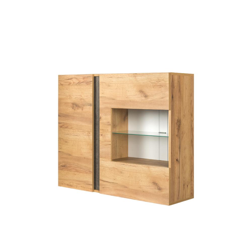 Шкаф навесной 10.60 АРЧИ (Дуб Крафт золотой/Камень темный)