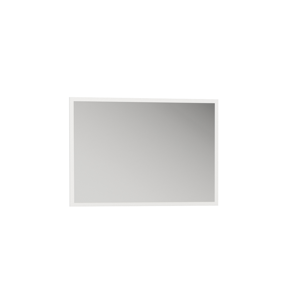 Зеркало навесное 03.240 ЛАЙТ (Орех Селект Каминный/Белый премиум)