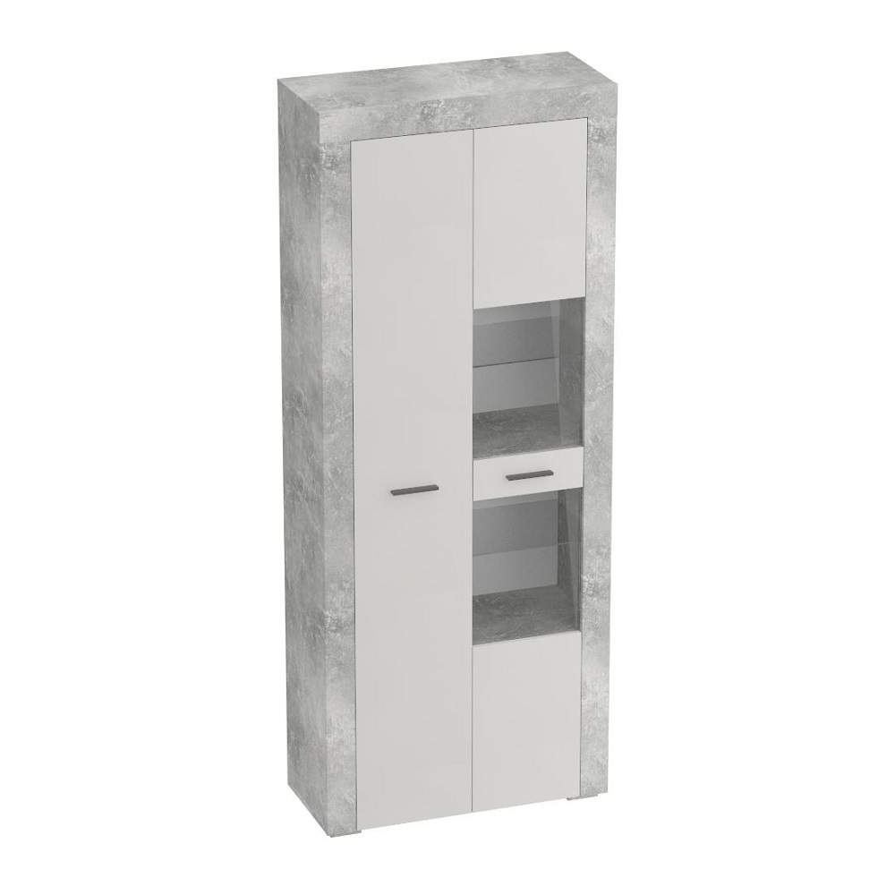 Шкаф 2-дверный ОСЛО (Бетон/Кашемир)