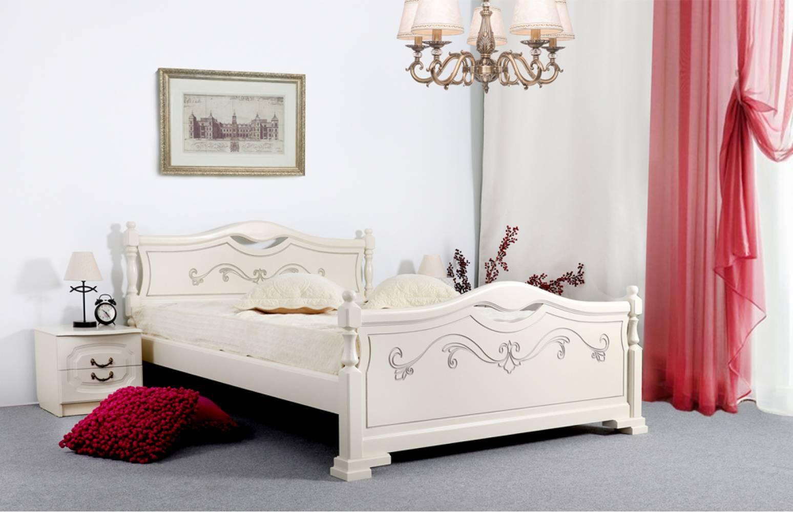 Кровать 1600 ЛЮДМИЛА-16 (Ясень жемчужный с патиной)