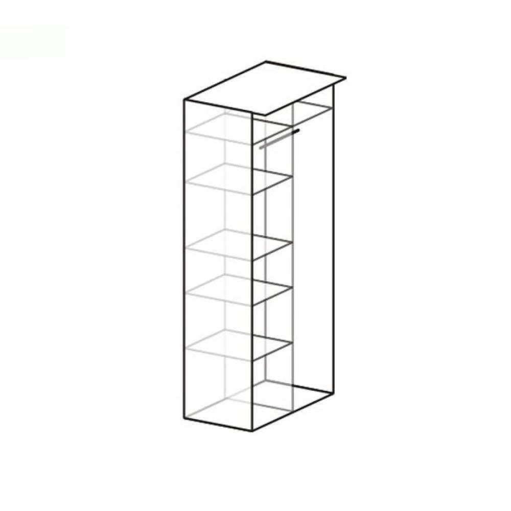 Шкаф 2-дверный 645 ЭЛАНА Бодега белая