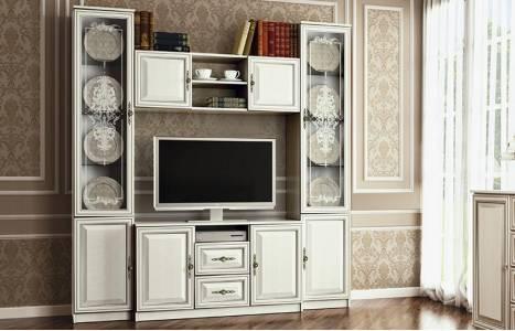 Шкаф комбинированный 06.87 ГАБРИЭЛЛА (Вудлайн кремовый/Сандал белый)
