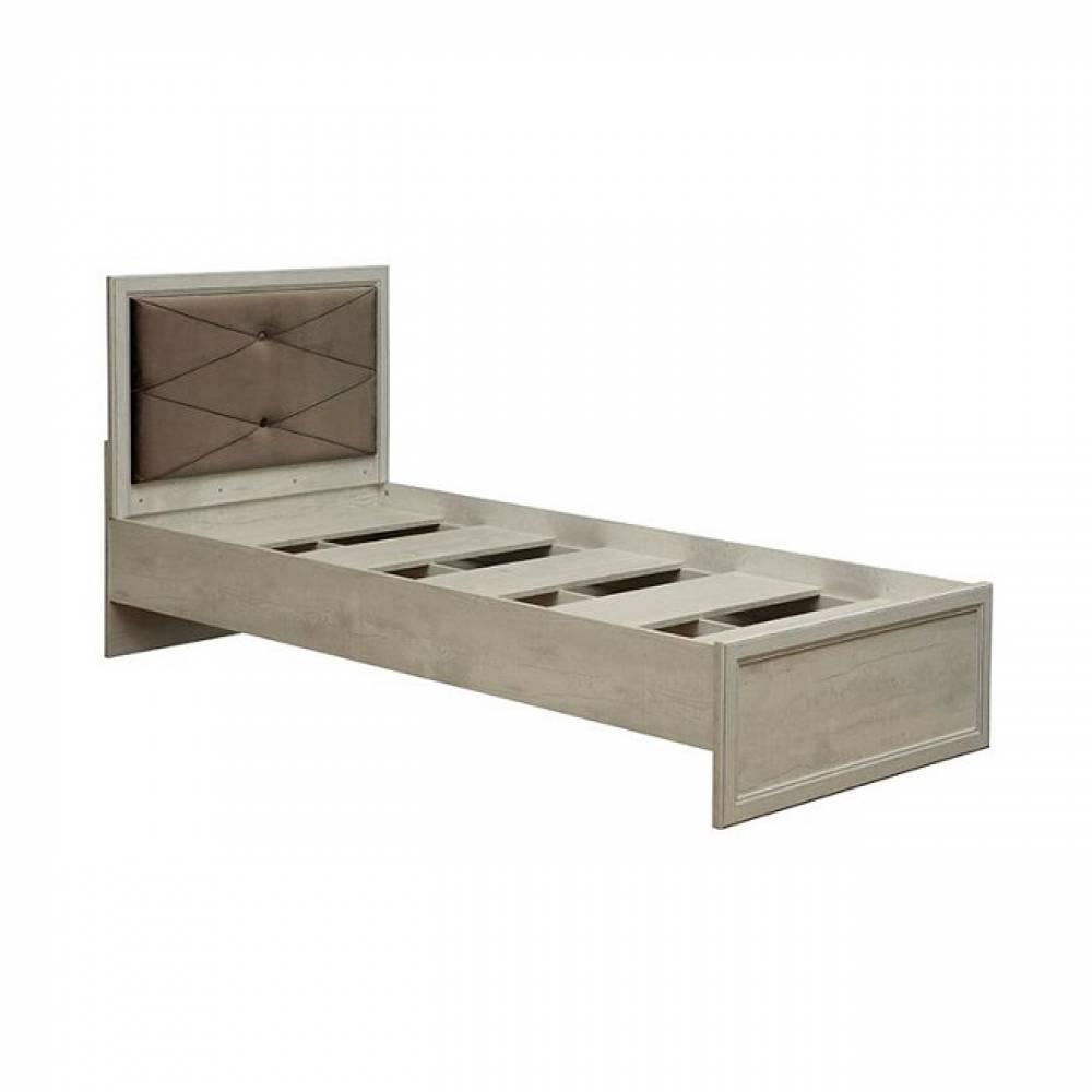 Кровать 900 одинарная 32.23 с настилом СОХО (Бетон пайн белый)