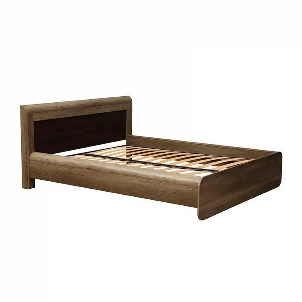 Кровать 1600 с ортопедическим основанием 34.25 - 02 ФАНТАЗИЯ (Дуб каньон/Дуб кальяри)