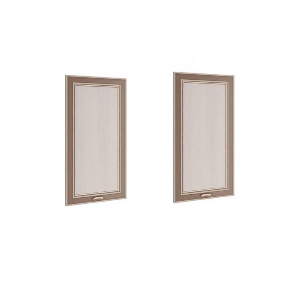 Комплект дверей для шкафа-пенала 06.85 - 01 МИНДАЛЬ (Вудлайн кремовый/Аруша венге)