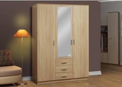 Шкаф комбинированный 06.291 с зеркалом ФРИЗ (Дуб Сонома)