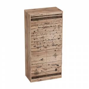 Шкаф для одежды ФРЕГАТ (Дуб Вотан)