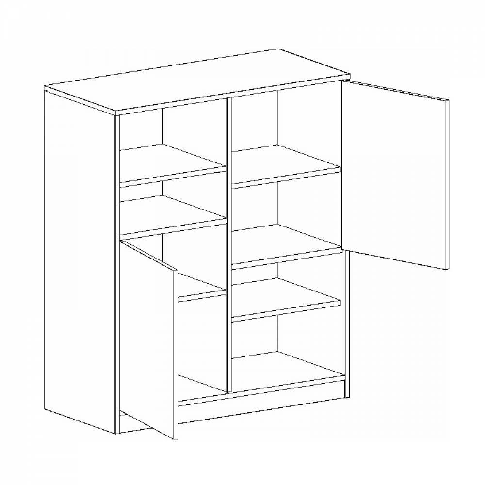 Шкаф с двумя дверями ФРЕГАТ (Дуб Вотан)