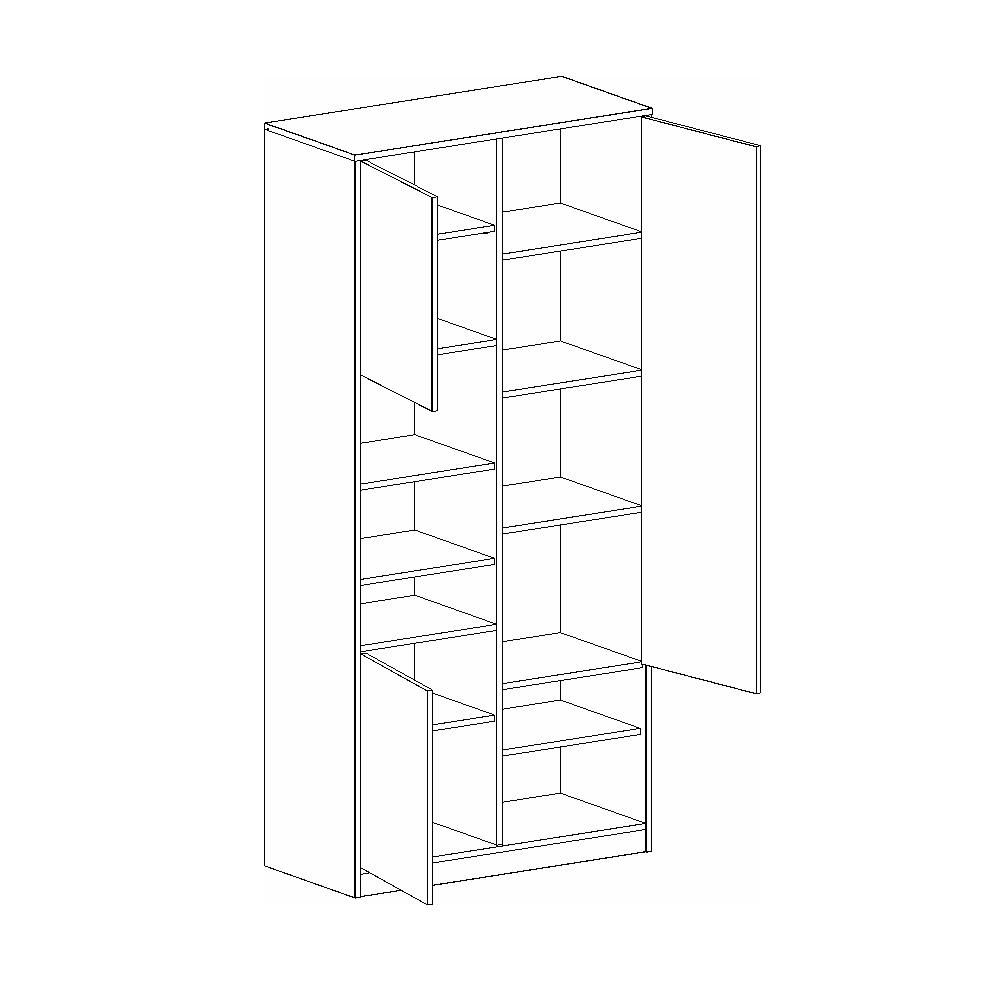 Шкаф с тремя дверями ФРЕГАТ (Дуб Вотан)