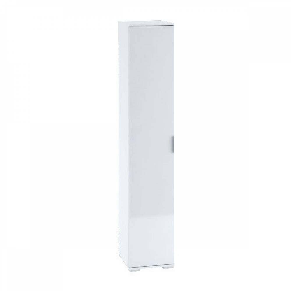 Шкаф с полками 1-створчатый ШК-821 ТЕРРА (Белый/Венге Премиум)
