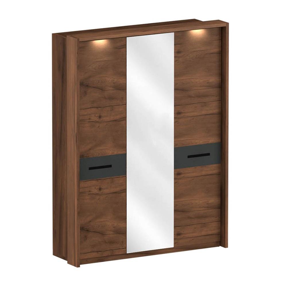 Обрамление для 3-дверного шкафа ГЛАЗГО (Таксония/Графит)
