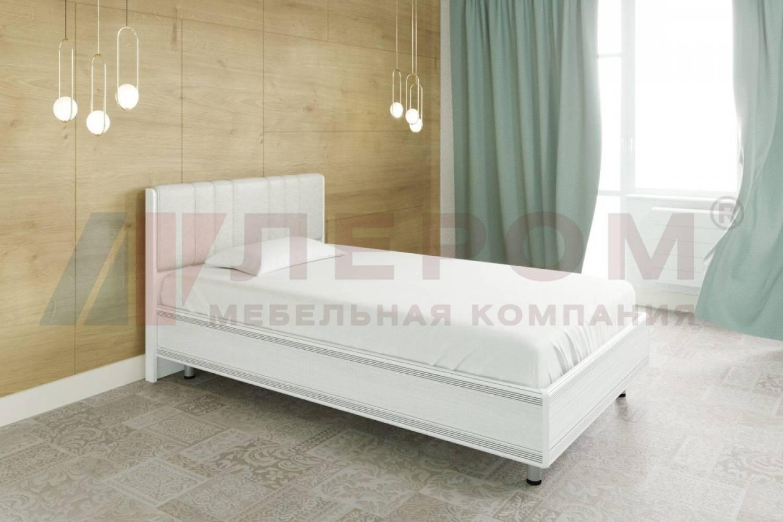 Кровать 1400 с ортопедическим основанием КР-2012 КАРИНА (Снежный ясень)