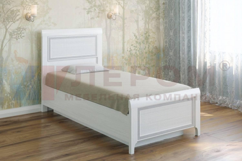 Кровать 900 с ортопедическим основанием КР-1025 КАРИНА (Снежный ясень)