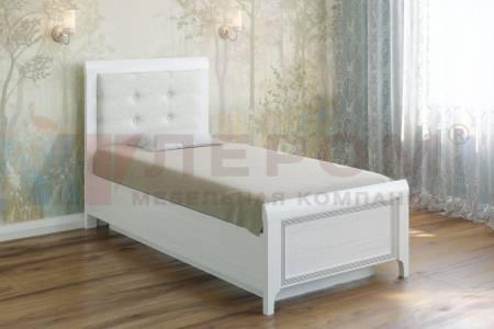 Кровать 900 с ортопедическим основанием КР-1035 КАРИНА (Снежный ясень)