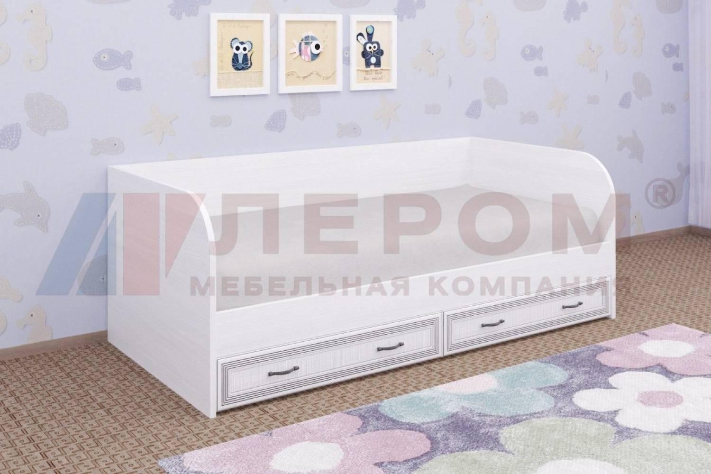 Кровать 900 с ортопедическим основанием КР-1042 КАРИНА (Снежный ясень)