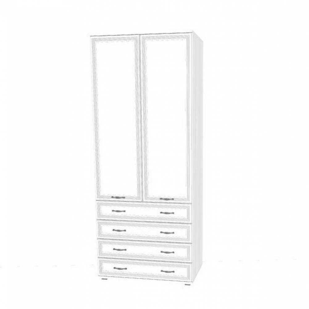 Шкаф для одежды и белья ШК-1006 КАРИНА (Снежный ясень)