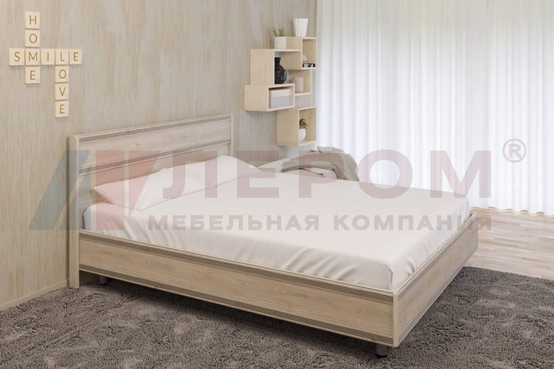 Кровать 1400 с ортопедическим основанием КР-2002 КАРИНА (Гикори Джексон светлый)