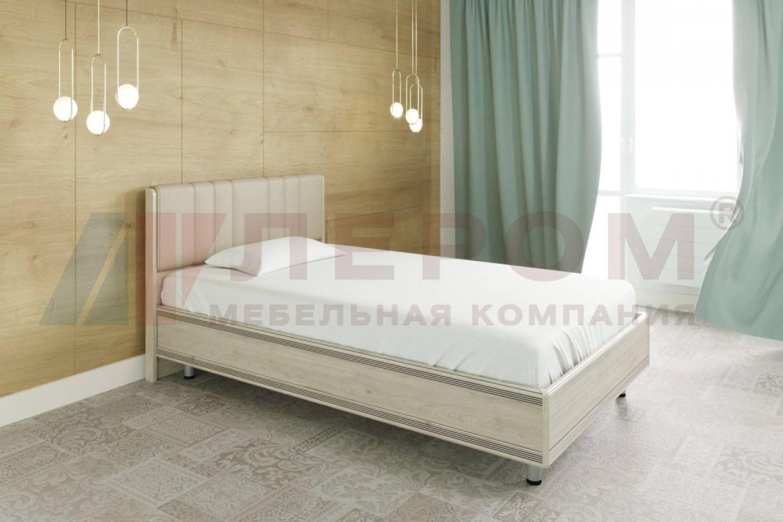 Кровать 1200 с ортопедическим основанием КР-2011 КАРИНА (Гикори Джексон светлый)