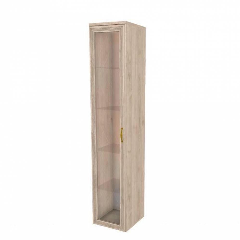 Шкаф многоцелевой (верхняя часть) (полки стекло) ШК-1064 КАРИНА (Гикори Джексон светлый)
