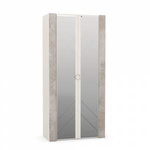 Шкаф для одежды 13.133 АМЕЛИ (Шелковый камень/Бетон Чикаго беж)