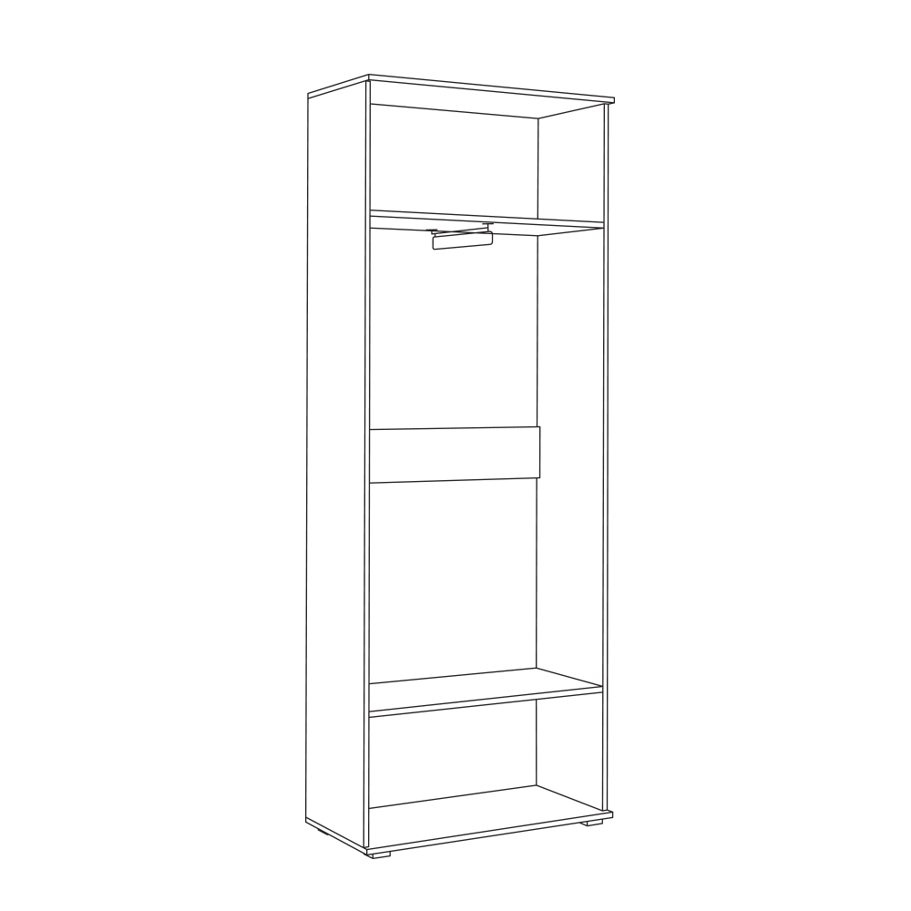 Шкаф для одежды 13.136 КУБА (Дуб сонома/Белый премиум)