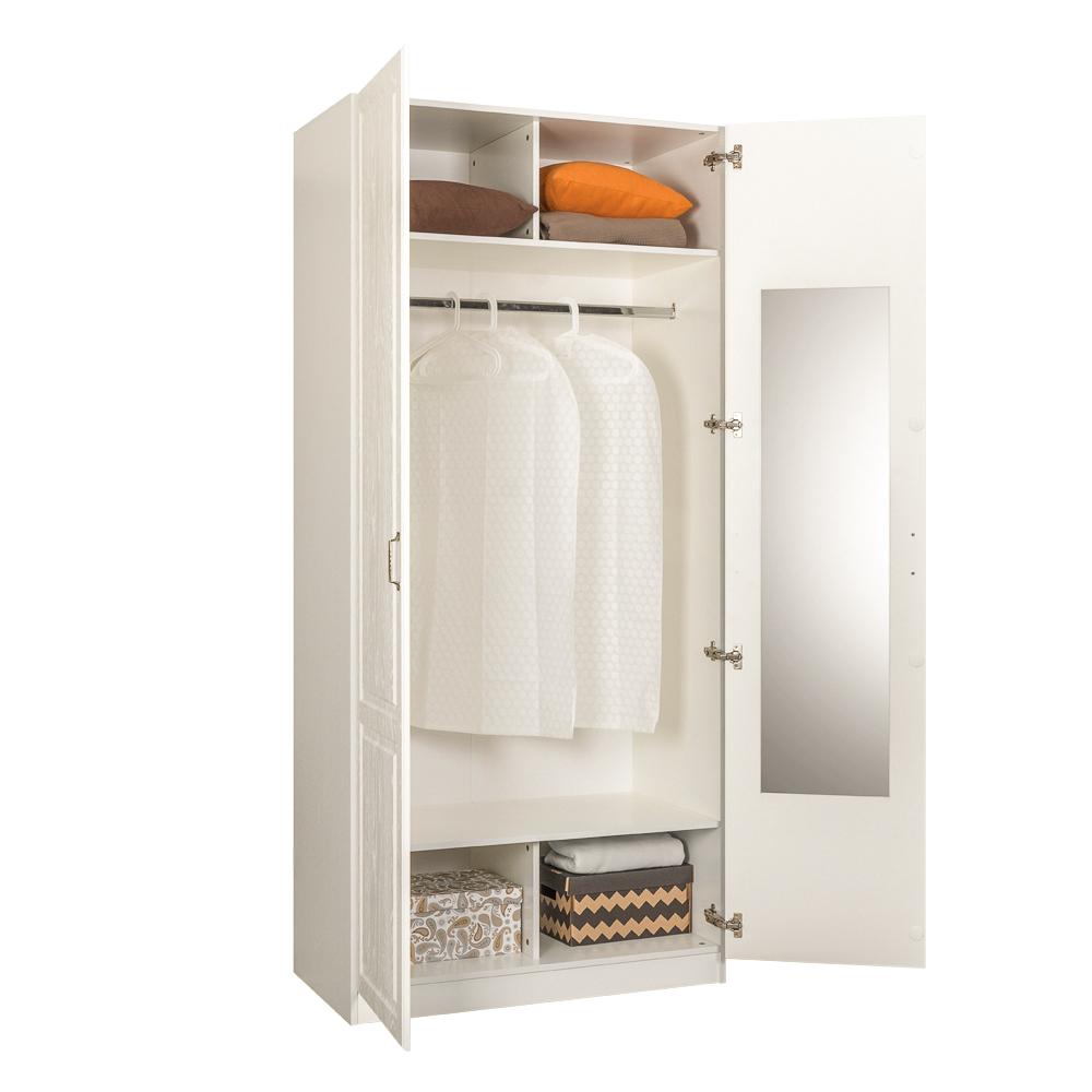 Шкаф для одежды 13.134 ЛИВЕРПУЛЬ (Белый/Ясень Ваниль)