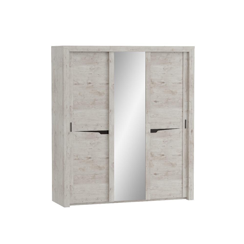 Шкаф с раздвижными дверями (3 двери) СОРЕНТО (Дуб бонифаций)