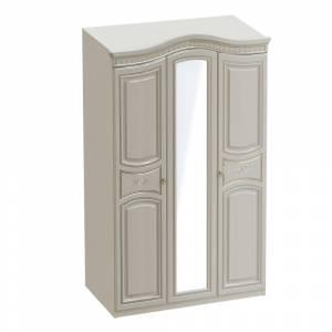 Шкаф 3х дверный НИКОЛЬ (Ясень жемчужный/Ваниль)