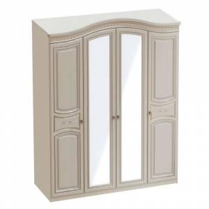 Шкаф 4х дверный НИКОЛЬ (Ясень жемчужный/Ваниль)