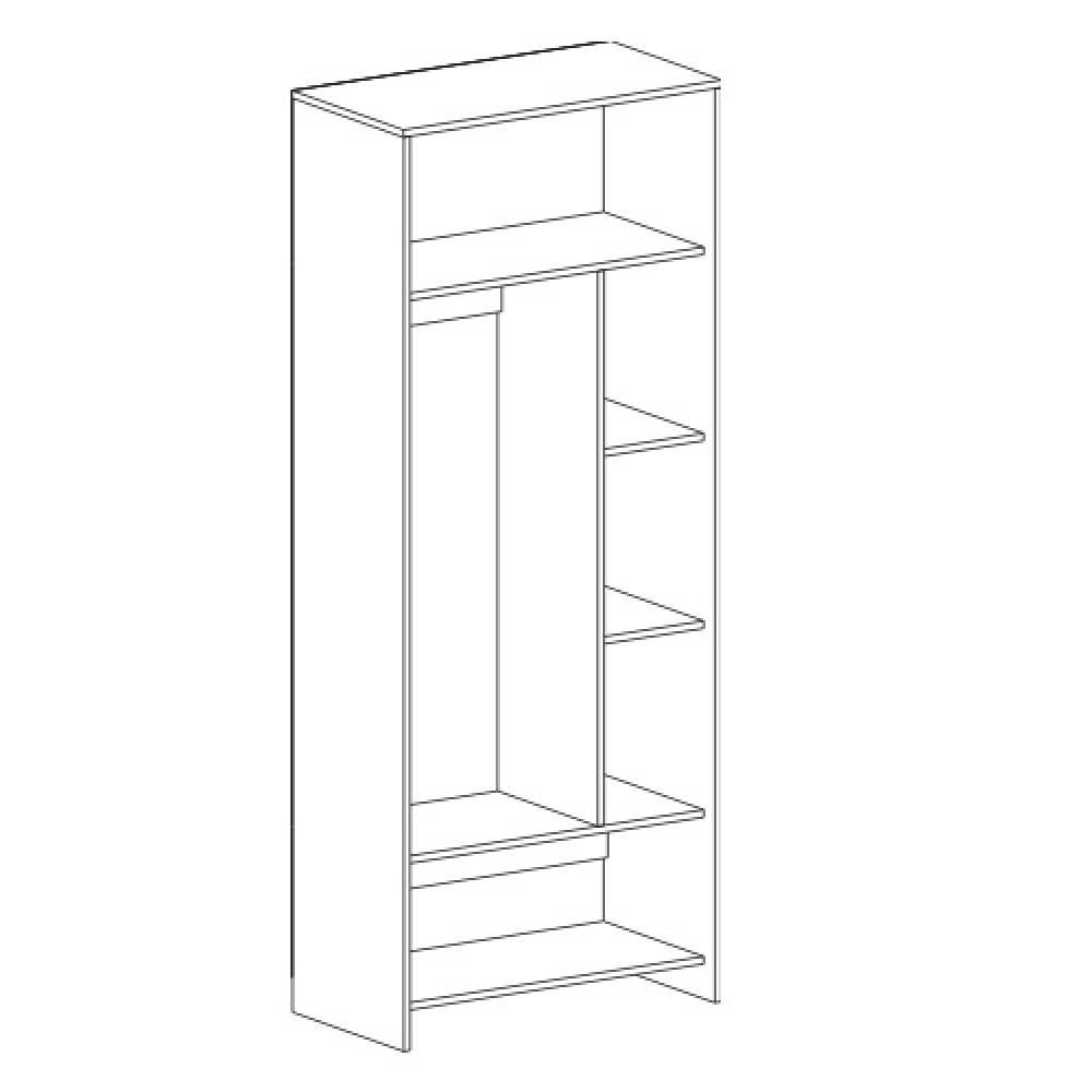 Шкаф 2-дверный СКАУТ (Фуксия)